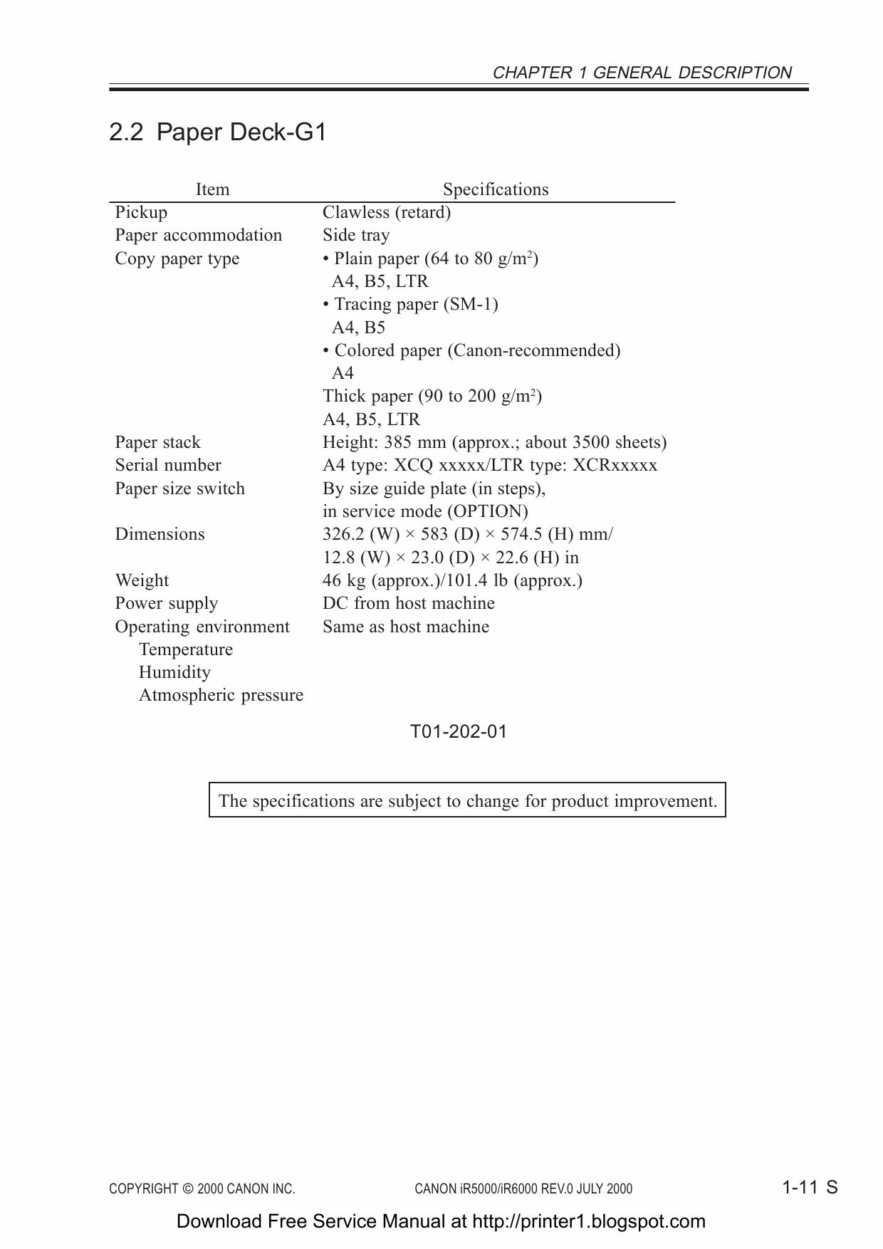 Sales Canon ImageRUNNER IR 5000 6000 Service Manual 2